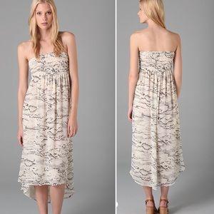 PJK Anthropologie Pencil Bird Convertible Dress